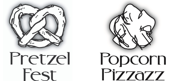 Pretzel Fest/Popcorn Pizzazz Logo