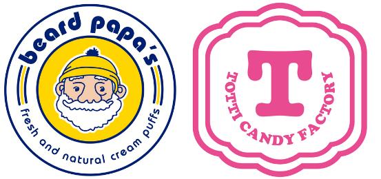 비어드 파파스 토티 캔디 팩토리 (Beard Papa/Totti Candy Factory) Logo