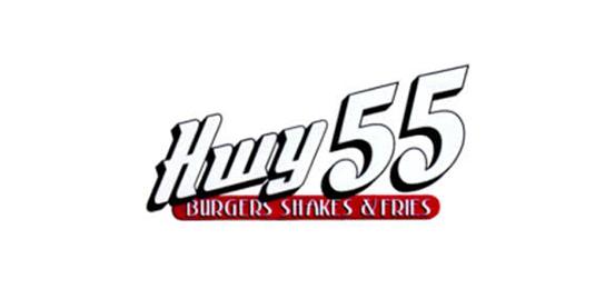 Highway 55 Burgers Shakes & Fries Logo