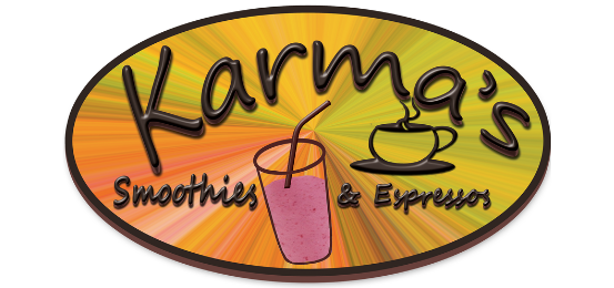 Karma Smoothies And Expressos            Logo