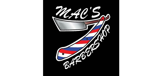 Mac's Barbershop                         Logo