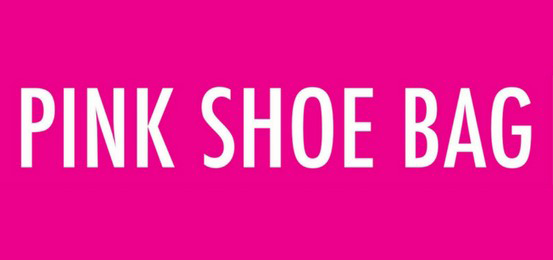 Pink Shoe Bag Logo