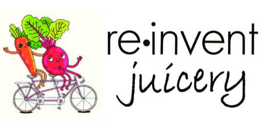 Re-Invent Juicery Logo