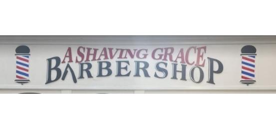 A Shaving Grace Barber Shop Logo