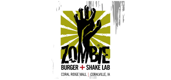 Zombie Burger And Shake Lab Logo